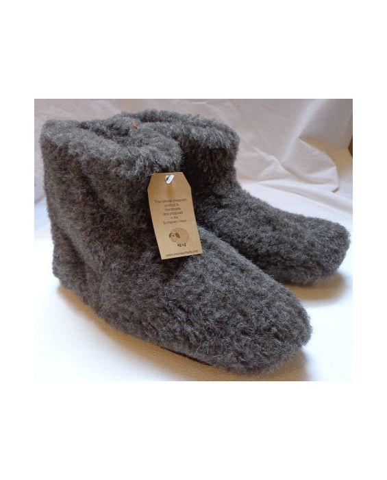 Woolwarmers wollen pantoffels ZWART